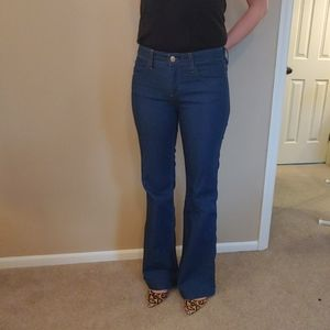 J Crew High Heel Flare Jean size 27